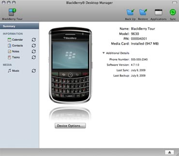 BlackBerry Desktop Manager for Mac Coming This Friday