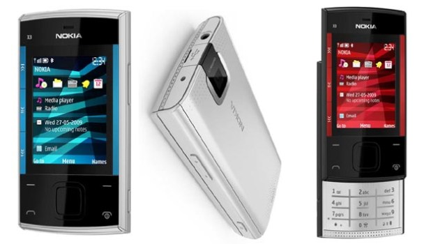 Budget Nokia X3 Feature Phone Plays FM without Headset