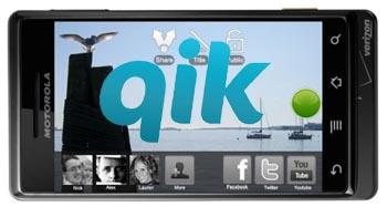 Motorola Droid Does Qik at 720x480 Resolution