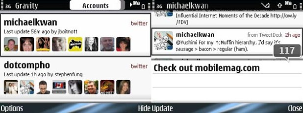 REVIEW - Gravity Twitter App for Symbian S60 Smartphones