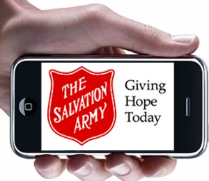 Text-to-Donate to the Salvation Army Canada
