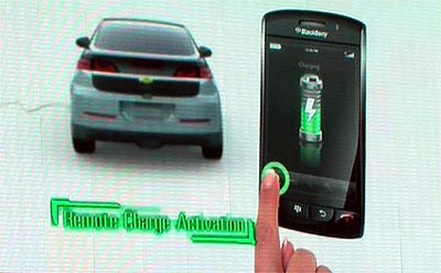Remotely Charge Your Chevy Volt with BlackBerry/iPhone Apps