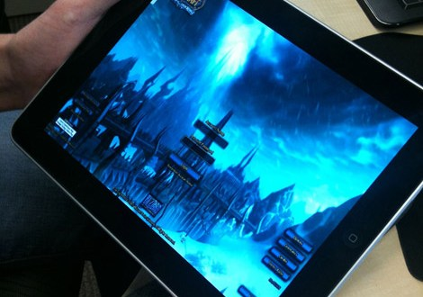 World of Warcraft playing on the iPad through Gaikai