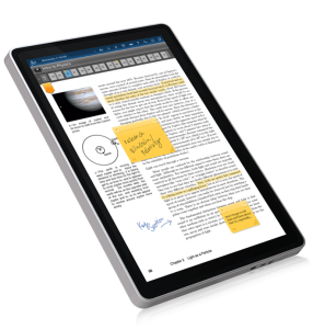 Kno-single-screen-textbook-with-stickies-and-notes