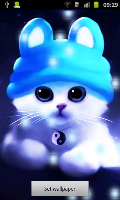 Cute Cat Bubbles Live Wallpaper Free Android Live Wallpaper download - Download the Free Cute ...