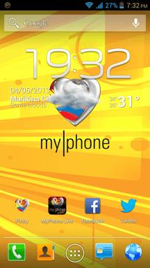 MyPhone A919i Duo Homescreen