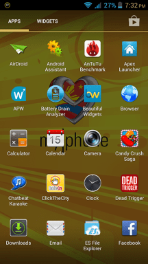 MyPhone A919i Duo App Drawer