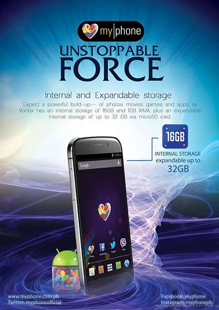 MyPhone Vortex Official Teaser 16GB Storage