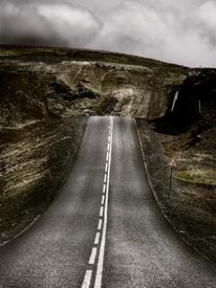 Download Alone Road Mobile Wallpaper | Mobile Toones
