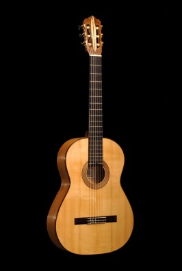 Chitarra flamenco vista anteriore