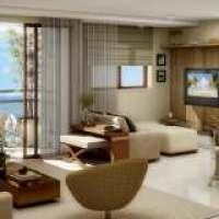 Ideia geral para uma sala decorada, aconchegante e moderna