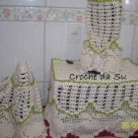 O jogo de crochê para cozinha que você deve conhecer
