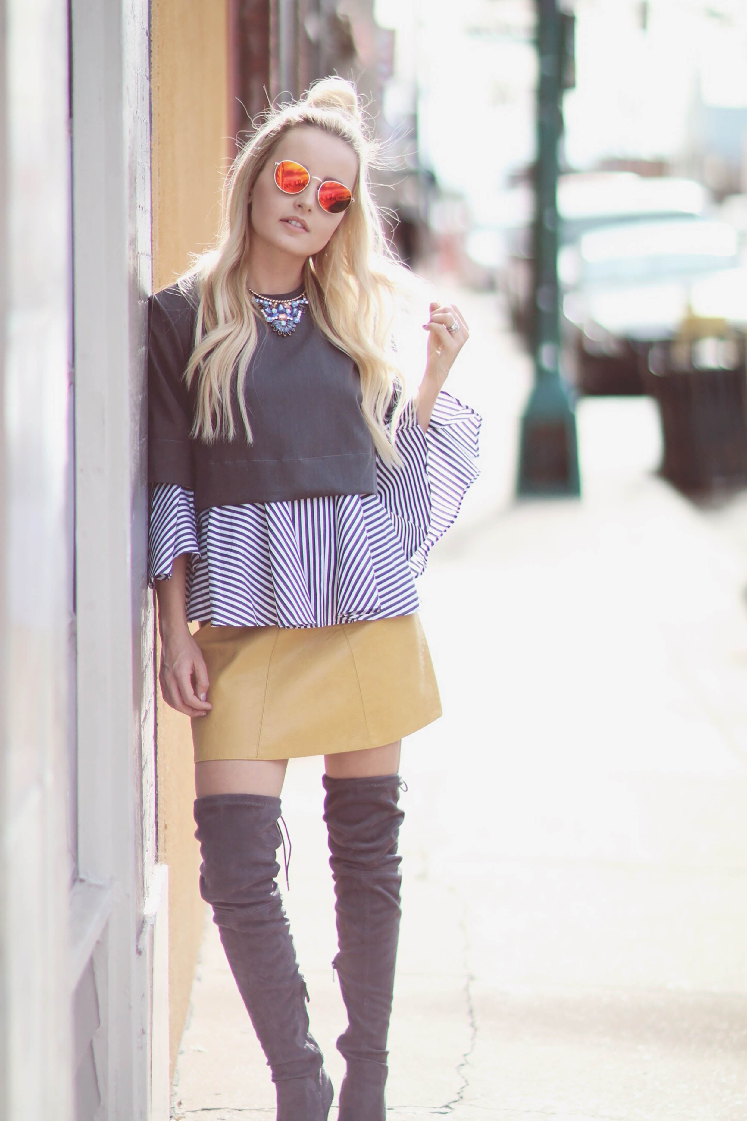 Alena Gidenko of modaprints.com shares tips on styling over the knee boots
