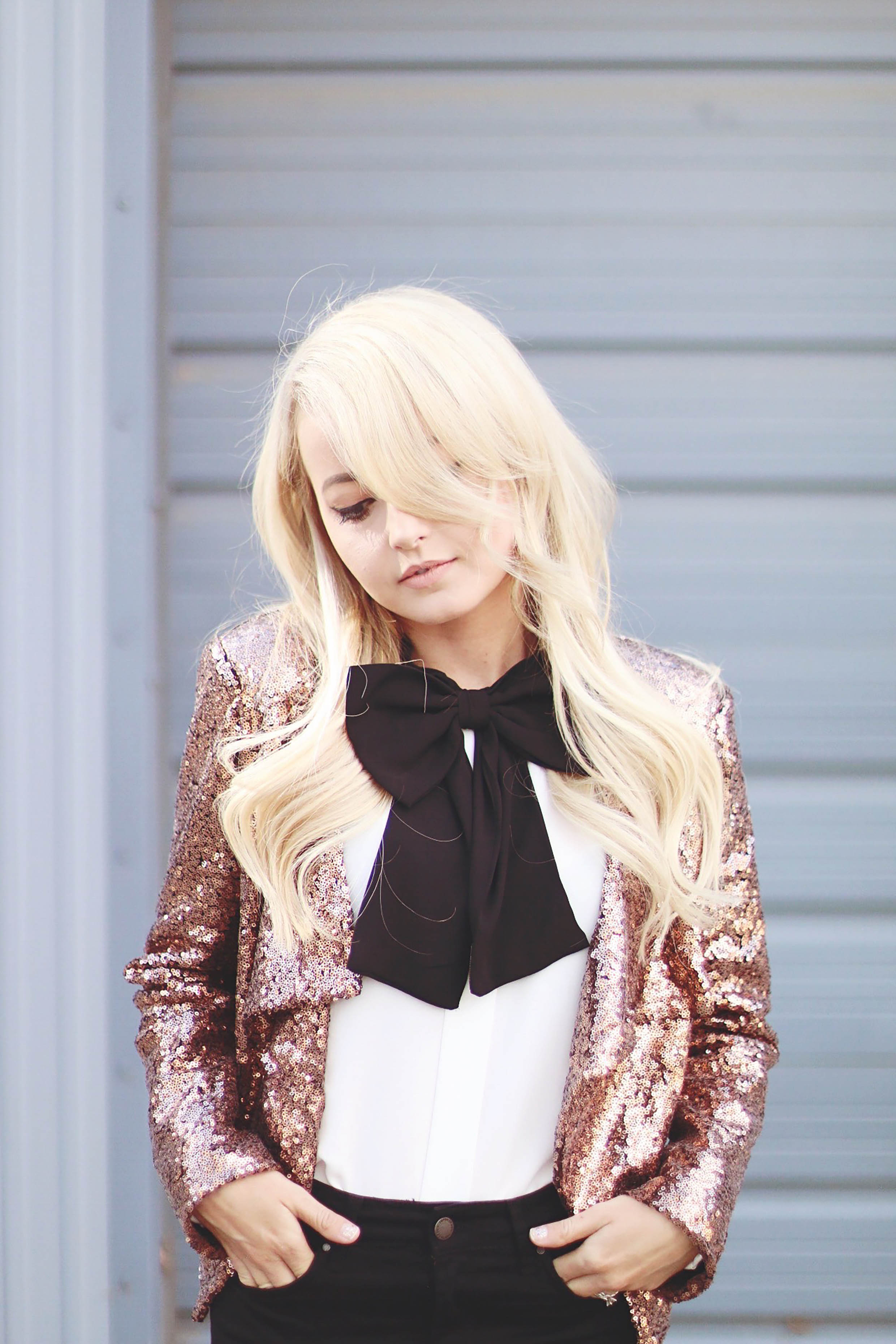 Alena Gidenko of modaprints.com styling sequin for the Holidays