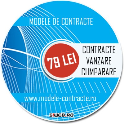 model contract vanzare cumparare