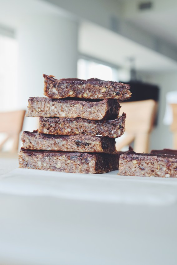 chocolate chia seed bars