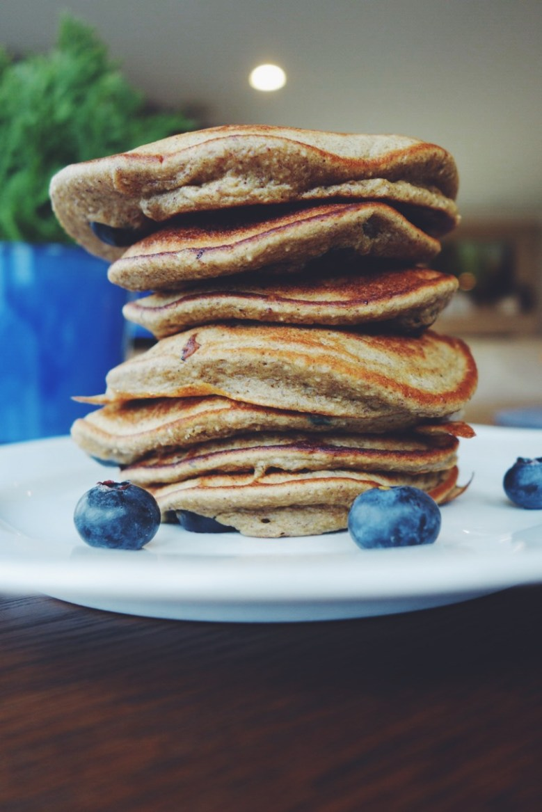 Banana Blender Pancakes with Flaxseeds
