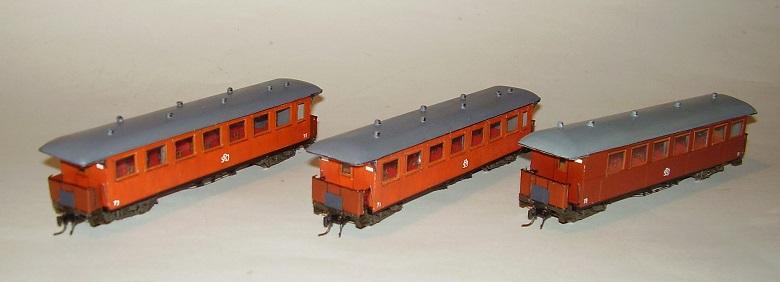 Två trävagnar och en stålvagn. Foto: Jörgen Edgar