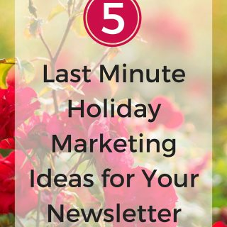 Five Last Minute Holiday Marketing Ideas for Your Acupuncture Email Newsletter - These ideas work for any holiday season. From Modern Acupuncture Marketing www.ModernAcu.com