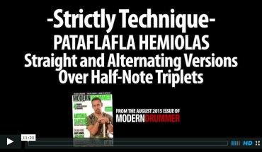 VIDEO LESSON! Pataflafla Hemiolas: Straight and Alternating Versions Over Half-Note Triplets