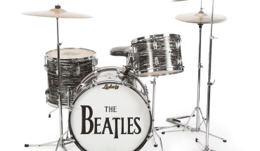 Ringo's 1963 Ludwig black oyster pearl three-piece drumkit