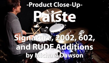 Video Demo! Paiste - Signature, 2002, 602, and RUDE Additions