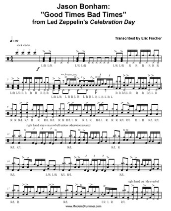 Jason Bonham Celebration Day Transcription by Eric Fischer