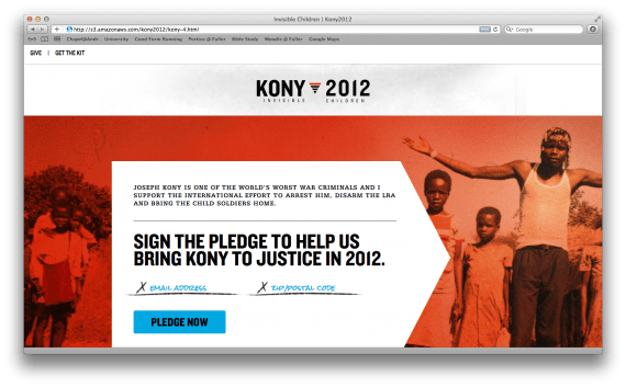 Stop Kony. Save the Invisible Children.