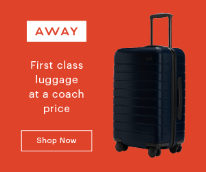 First class luggage at a coach price - Away Travel