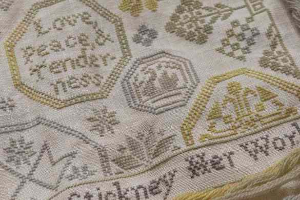 Quaker Sampler: Love, Peace, & Tenderness - a cross-stitch pattern