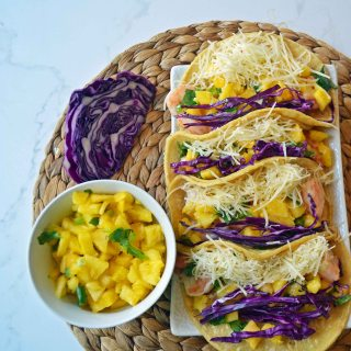 Honey Lime Shrimp Tacos with Pineapple Salsa by Modern Honey l www.modernhoney.com