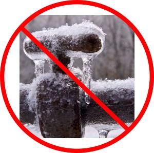 frozen pipe in winter
