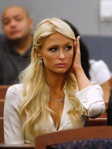Paris Hilton in court