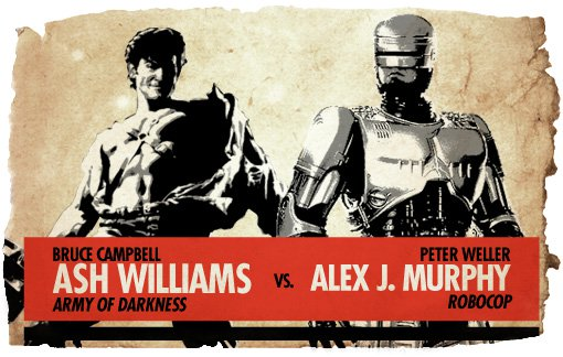 Action Heroes: Ash Williams vs. RoboCop