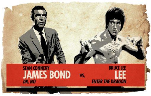 Ultimate Action-Hero Showdown: James Bond vs. Bruce Lee