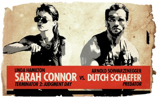 Ultimate Action-Hero Showdown Sarah Connor vs. Dutch