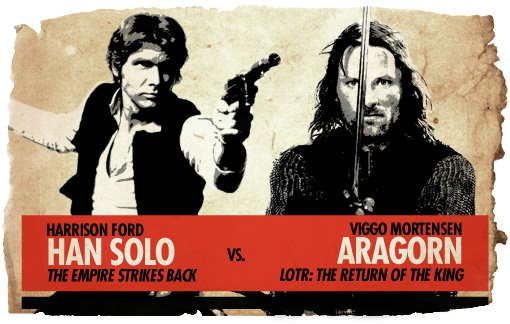Ultimate Action-Hero Showdown: Han Solo vs. Aragorn