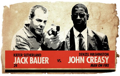 Action Hero Showdown Jack Bauer vs. John Creasy