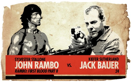 Action Heros: Rambo vs. Jack Bauer
