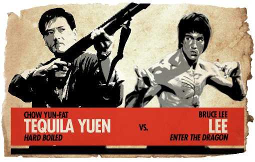 Action Hero Showdown Tequila Yuen vs. Bruce Lee