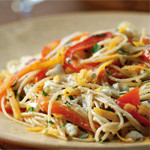 Guy Recipes: Sweet-Potato-and-Bell-Pepper Pasta