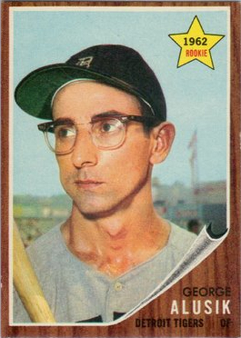 16 More Hilarious Old Baseball Cards george allusk