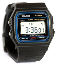 CASIO F91W-1 great watches under $100
