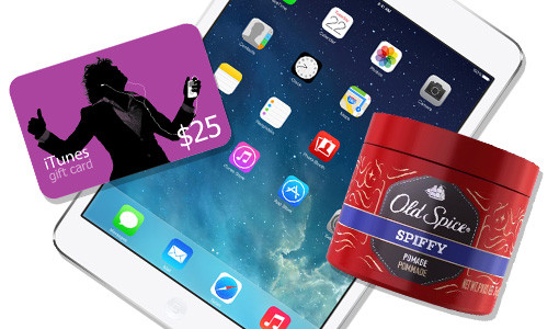 ipad mini giveaway old spice