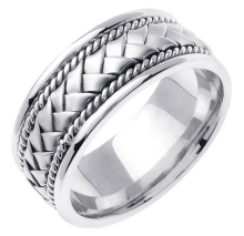 best wedding bands for men Braided Basket