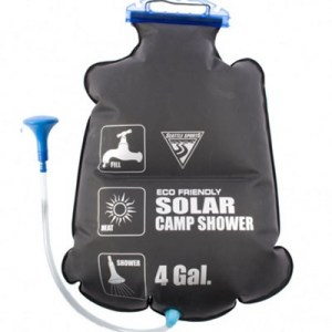solar heated camp shower 16l