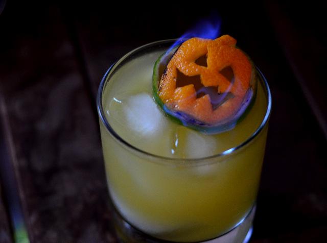How to Make A Flaming Jack O' Lantern Tiki Garnish