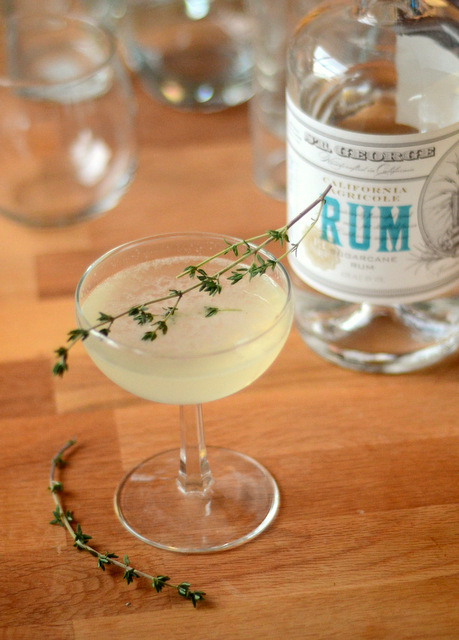 Citrus Season Cocktail with St. George California Agricole Style Rum