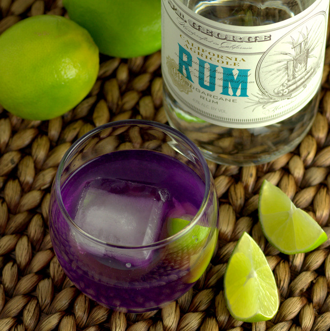 Butterfly Pea Ti Punch