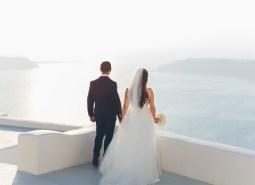 Destination Wedding in Santorini Photography by David Campbell